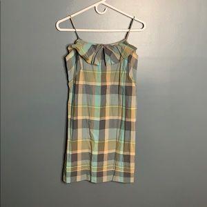 Loft plaid ruffle dress